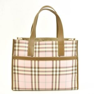 BURBERRY London: Pink Nova Check Tote Bag (uv)